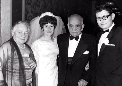 Cohen at friends wedding 1967