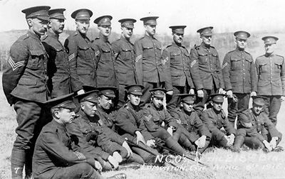 Cohen with batallion in Canada 1916