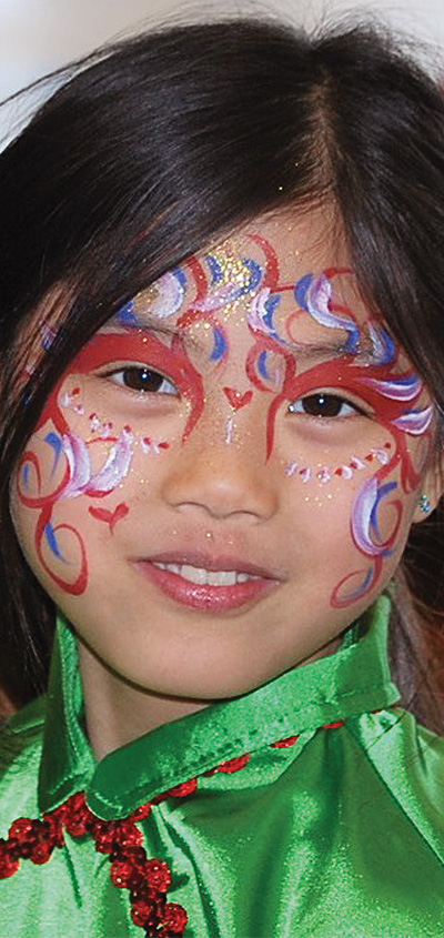 Abby (writer's daughter) at a Chinese New Year festival